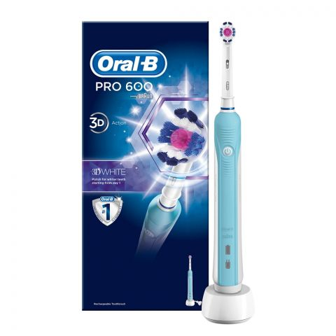 Oral-B Pro 600 3D Cross Action Rechargeable Electric Toothbrush, D16.513