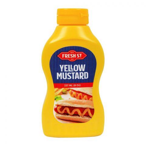 Fresh Street Yellow Mustard, 237ml, Pet Bottle