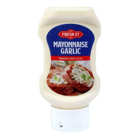 Fresh Street Mayonnaise Garlic, 11oz, 300g, Pet Bottle