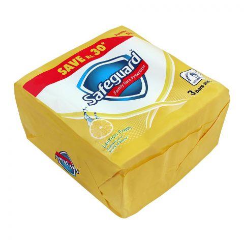 Safeguard Lemon Fresh Soap, Jumbo Size, 175g, 3-Pack