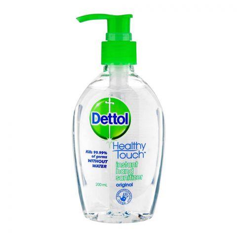 Dettol Healthy Touch Instant Hand Sanitiser, Pump, 200ml