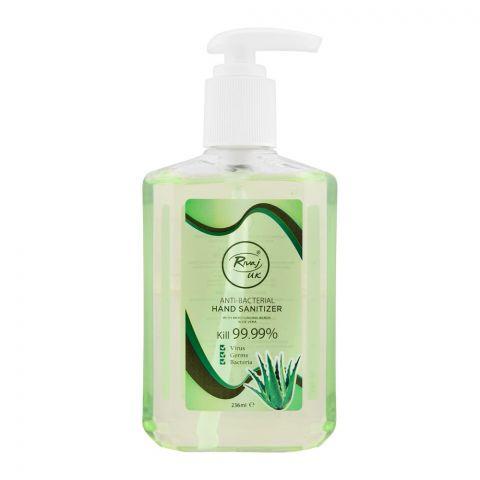 Rivaj UK Aloe Vera Anti-Bacterial Hand Sanitizer, 236ml
