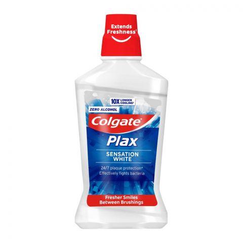 Colgate Plax Sensation White Mouthwash, Zero Alcohol, 500ml