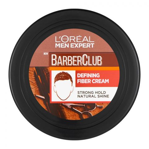 L'Oreal Paris Men Expert Barber Club Defining Fiber Hair Cream, Strong Hold, 75ml