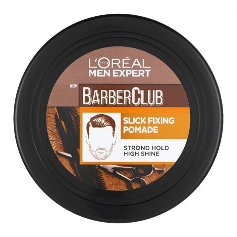 L'Oreal Paris Men Expert Barber Club Slick Fixing Pomade Hair Cream, Strong Hold, 75ml