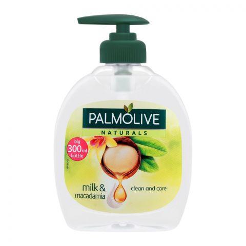 Palmolive Naturals Milk & Macadamia Clean And Clear Hand Wash, 300ml