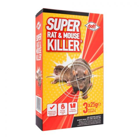 Doff Super Rat & Mouse Killer, 3x25g