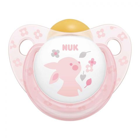 Nuk Baby Rose & Blue Pacifier, Latex, Pink, 0-6m, 10726008