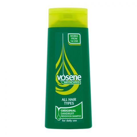 Vosene Medicated Original Dandruff Prevention Shampoo, All Hair Types, 250ml