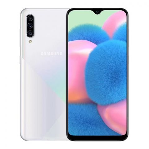 Samsung Galaxy A30S 4GB/128GB Smartphone, White, SM-A307