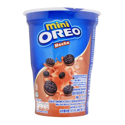 Oreo Mini Cookies, Mocha, Cup,  61.3g