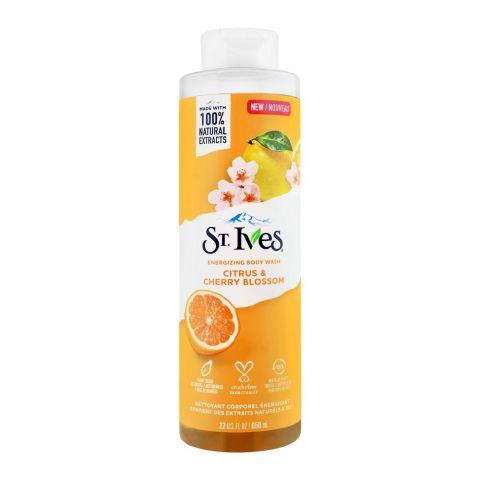 St. Ives Citrus & Cherry Blossom Energizing Body Wash, 650ml