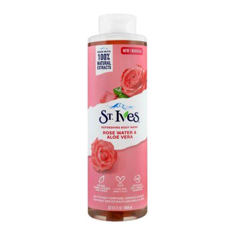 St. Ives Rose Water & Aloe Vera Refreshing Body Wash, 650ml