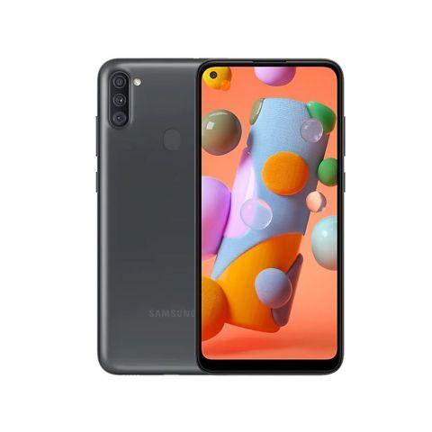 Samsung Galaxy A11 2GB/32GB Smartphone, Black, 6.4 Inches Display, SM-A115F/DS