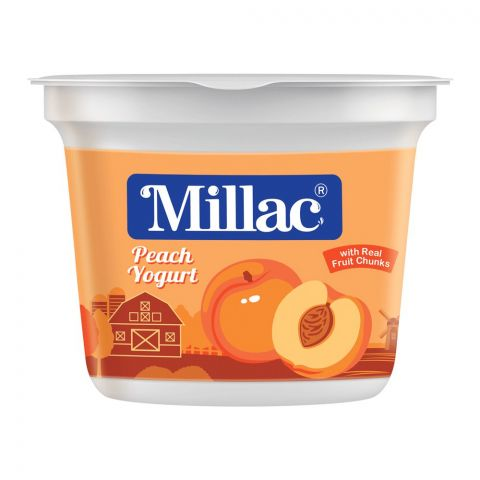 Millac Peach Fruit Yogurt, 250g