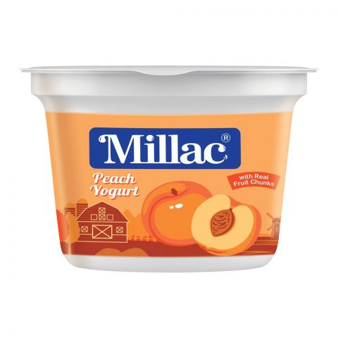 Millac Peach Fruit Yogurt, 100g