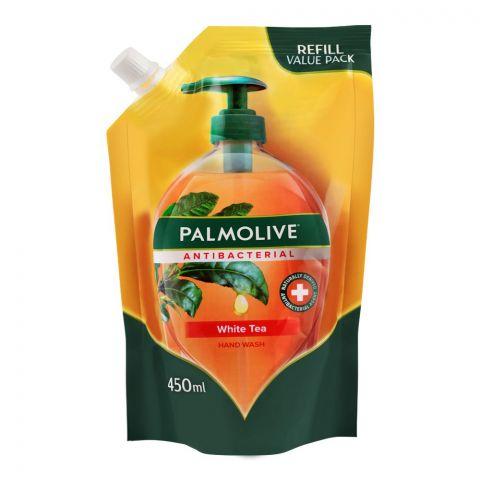 Palmolive Antibacterial White Tea Hand Wash, Refill, 450ml