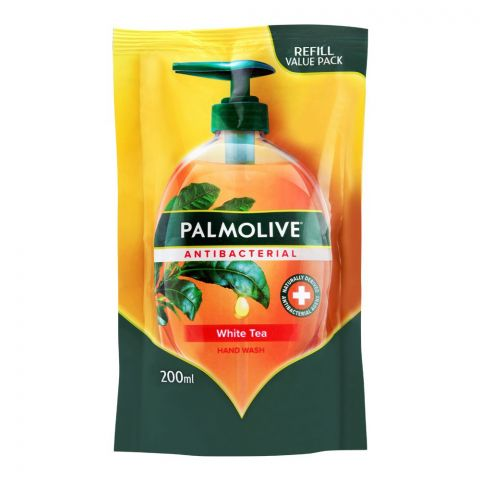 Palmolive Antibacterial White Tea Hand Wash, Refill, 200ml