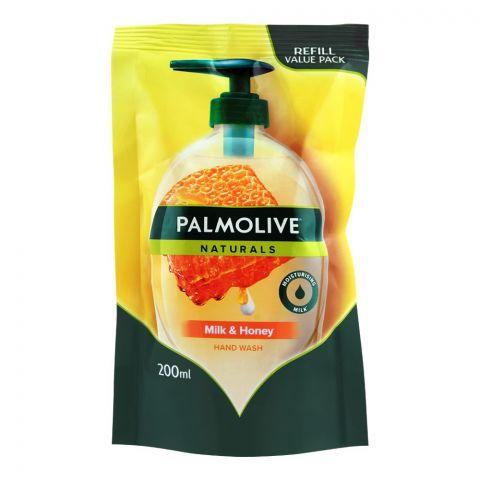 Palmolive Naturals Milk & Honey Hand Wash, Refill, 200ml