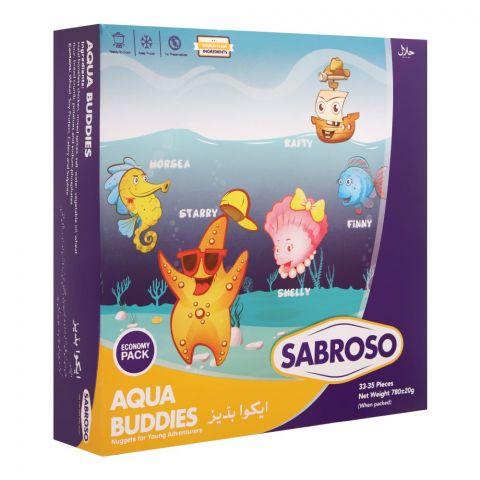 Sabroso Aqua Buddies, Economy Pack, 33-35 Pieces, 780g
