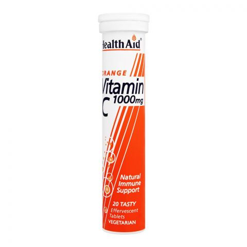 Health Aid Orange Vitamin C 1000mg, 20 Tablets