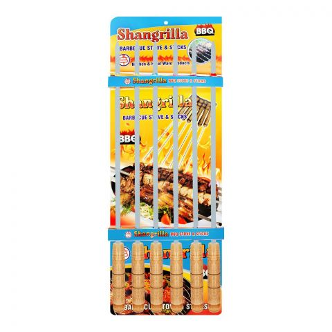 Shangrilla Iron BBQ Stick Plain Slim, 6-Pack