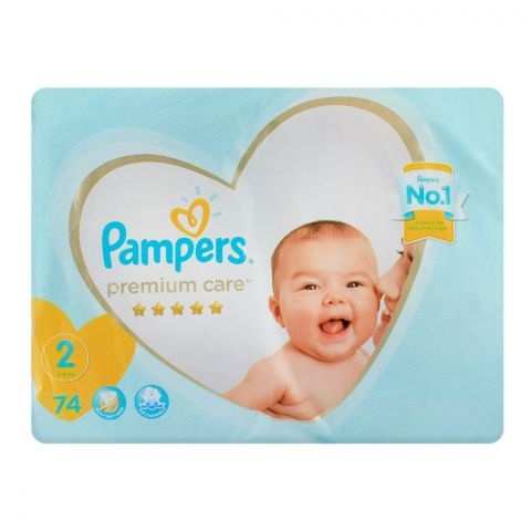 Pampers Premium Care No. 2, 3-8 KG, 74-Pack