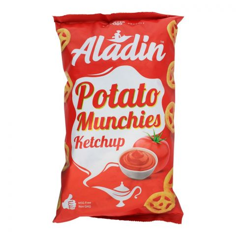 Aladin Potato Munchies Chips, Ketchup, 60g
