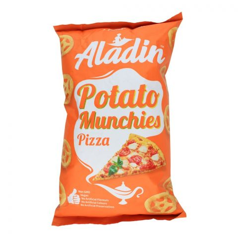 Aladin Potato Munchies Chips, Pizza, 60g