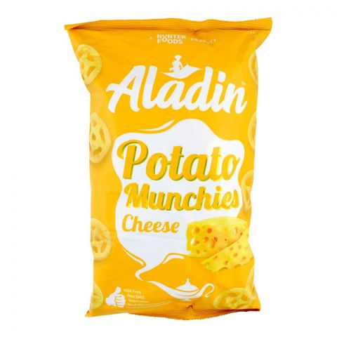 Aladin Potato Munchies Chips, Cheese, 60g