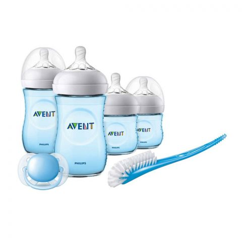 Avent Natural Newborn Starter Set, 0m+, Blue, SCD-290/14