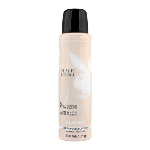 Playboy Play It Lovely Anti-White Marks Deodorant Spray, For Women, 150ml