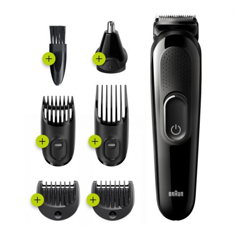 Braun All-in-One Trimmer 3, Beard & Hair, 6-In-1 Styling Kit, MGK-3220