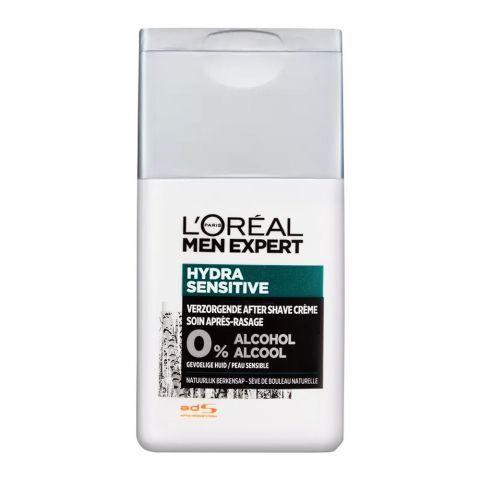 L'Oreal Paris Men Expert Hydra Sensitive 0% Alcohol After Shave, 125ml
