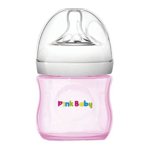 Pink Baby Superior-PP Ultra Wide Neck Feeding Bottle, Pink/Plain, 0m+, Slow Flow, 120ml, WN-113