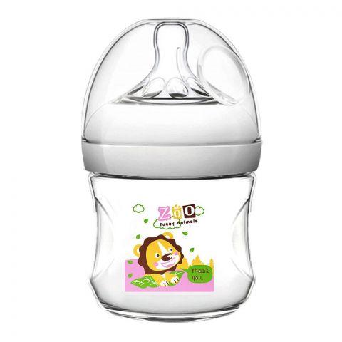 Pink Baby Superior-PP Ultra Wide Neck Feeding Bottle, Grey/Lion, 0m+, Slow Flow, 120ml, WN-111/04