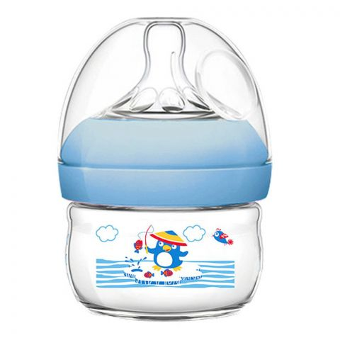 Pink Baby Superior-PP Ultra Wide Neck Feeding Bottle, Blue/Decorated, 0m, Slow Flow, 60ml, WN-110/02