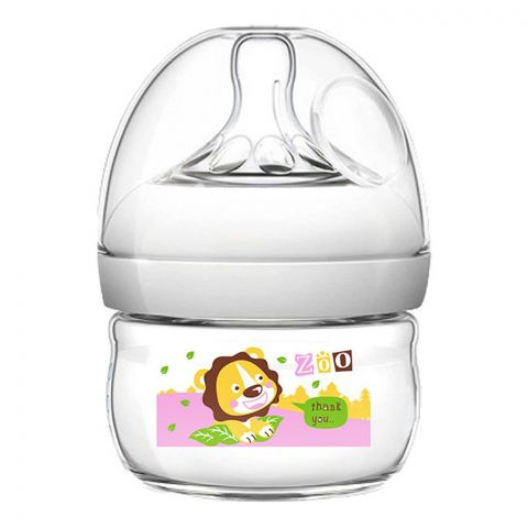 Pink Baby Superior-PP Ultra Wide Neck Feeding Bottle, Grey/Lion, 0m, Slow Flow, 60ml, WN-110/04