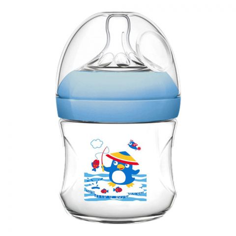 Pink Baby Superior-PP Ultra Wide Neck Feeding Bottle, Blue/Decorated, 0m+, Slow Flow, 120ml, WN-111/02