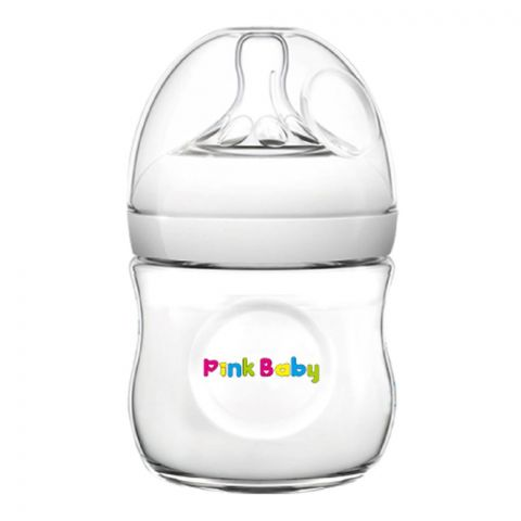 Pink Baby Superior-PP Ultra Wide Neck Feeding Bottle, White/Plain, 0m+, Slow Flow, 120ml, WN-111