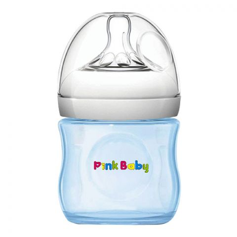 Pink Baby Superior-PP Ultra Wide Neck Feeding Bottle, Blue/Plain, 0m+, Slow Flow, 120ml, WN-112
