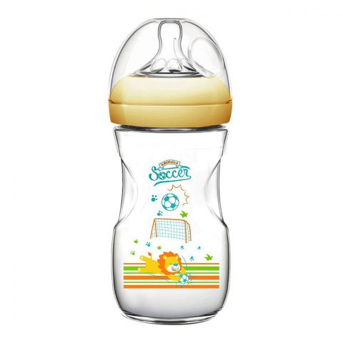 Pink Baby Superior-PP Ultra Wide Neck Feeding Bottle, Orange/Lion, 6m+, Large Flow, 330ml, WN-117/03