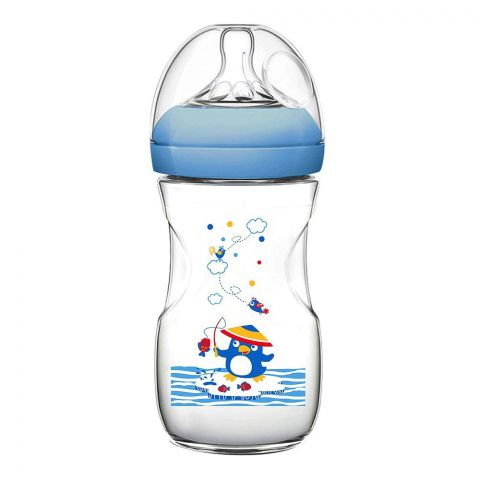 Pink Baby Superior-PP Ultra Wide Neck Feeding Bottle, Blue/Decorated, 6m+, Large Flow, 330ml, WN-117/02