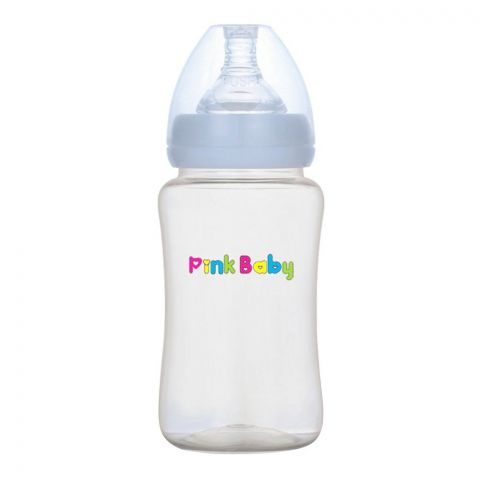 Pink Baby Superior-PPSU Wide Neck Feeding Bottle, 6m+, Large Flow, 240ml, WN-107