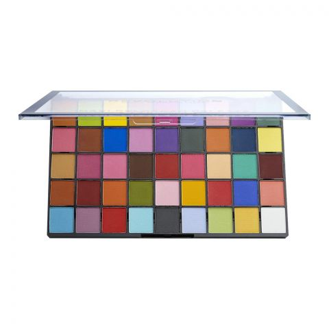 Makeup Revolution Maxi Reloaded Eyeshadow Palette, Monster Mattes, 45 Pieces