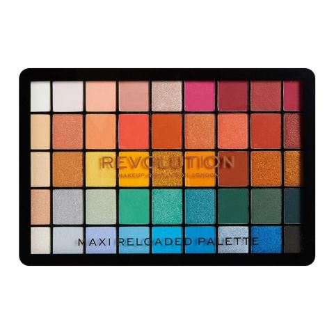 Makeup Revolution Maxi Reloaded Eyeshadow Palette, Big Shot, 45 Pieces