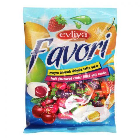 Evliya Favori Fruit Flavoured Center Filled Soft Candy, Pouch, 350g