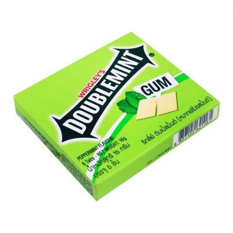 Wrigley's Doublemint Peppermint Gum, 6 Tabs, 16g