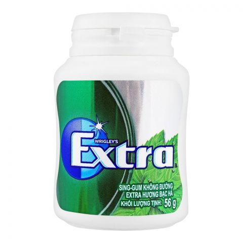 Wrigley's Extra Mint Gum, Bottle, 56g