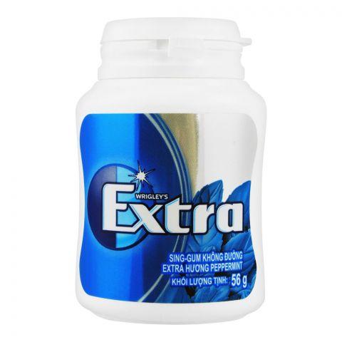 Wrigley's Extra Peppermint Gum, Bottle, 56g